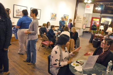 The Lean In Professional Women's Mixer brought over 75 LBT-identified women to the Center. (Photo by Scott Drake)